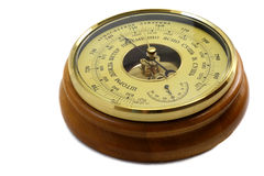 Barometer - aneroid on a white background Stock Images