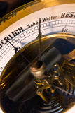 Barometer close-up. Old brass barometer close-up Royalty Free Stock Images