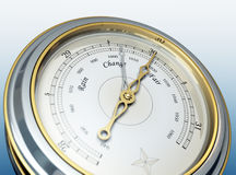 Barometer. 3d render of a barometer Royalty Free Stock Image