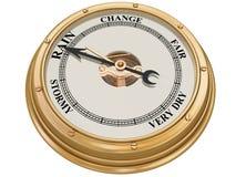 Barometer, das Regen anzeigt Stockfotos
