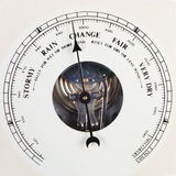Barometer dial set to change