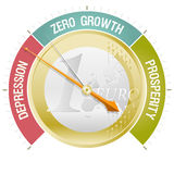 Barometer of the European crisis Stock Photos