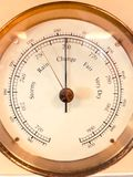 Barometer front view. Concept of weather changes royalty free stock images
