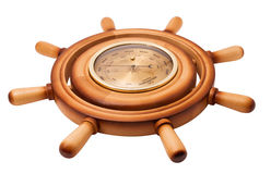 Barometer of handwheel Stock Photo