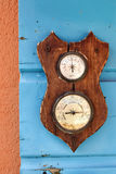 Barometer och hygrometer Arkivbild