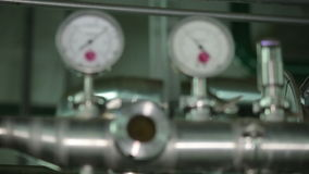 Barometer Production Workshop stock footage