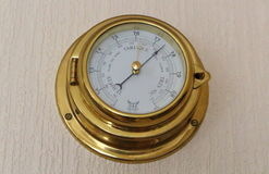 Barometer on a wall royalty free stock images