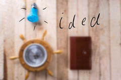 Barometer on a wooden background. Royalty Free Stock Photography