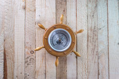 Barometer on a wooden background. Stock Photography