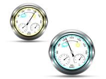 Barometerinstrument vektor illustrationer
