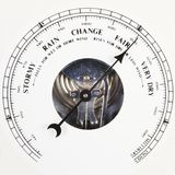 barometervisartavlafair som ställs in till Fotografering för Bildbyråer