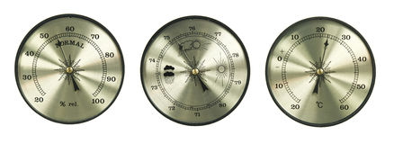 Barometro dell'igrometro del termometro Immagini Stock Libere da Diritti