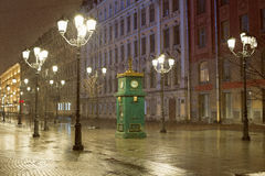 Barometro dell'orologio in st Ptereburge Fotografie Stock