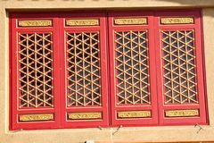 Baromraja red window Royalty Free Stock Image