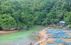 Baron beach in gunungkidul Stock Photo