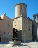 Baron- Caetani slott som byggs i 1319 i Fondi, Italien Royaltyfri Fotografi