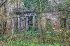 Baron Hill Entrance. Baron Hill a derelict old mansion abandoned over 60 years ago Beaumaris Isle of Anglesey royalty free stock photos