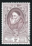 Baron Leonard I. RUSSIA KALININGRAD, 26 OCTOBER 2015: stamp printed by Belgium, shows Baron Leonard I, circa 1952 Royalty Free Stock Image