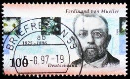 Baron Sir Ferdinand von Mueller 1825-1896, serie centenario de la muerte, circa 1996 imágenes de archivo libres de regalías