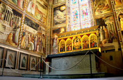 Baroncelli Chapel in Basilica di Santa Croce. Florence, Italy Royalty Free Stock Photo