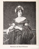 Baroness Anne Louise Germaine de Stael-Holstein ( Madame de Stae Royalty Free Stock Photo