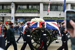 Baroness Thatcher's funeral Stock Photos