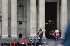 Baroness Thatcher's funeral Royalty Free Stock Images