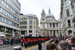 Baroness Thatcher's funeral Stock Photo
