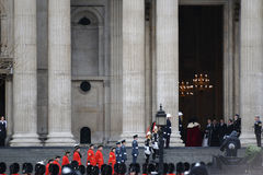 BaronessaThatchers begravning Royaltyfri Foto
