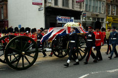 BaronessaThatchers begravning Royaltyfria Bilder