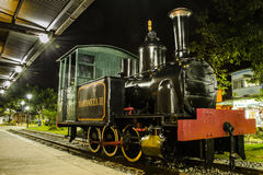 Baroneza II locomotief bij Nogueira-Post Royalty-vrije Stock Afbeeldingen