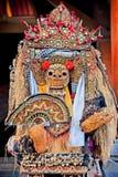 Barong狮子, Ubud,巴厘岛舞蹈屏蔽  免版税库存照片