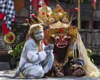 Barong舞蹈在巴厘岛 免版税库存图片