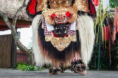 Barong舞蹈展示 免版税库存照片
