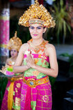 Barong舞蹈演员。 巴厘岛,印度尼西亚 库存图片