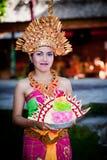 Barong舞蹈演员。 巴厘岛,印度尼西亚 免版税图库摄影