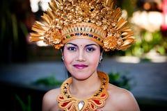 Barong舞蹈演员纵向。 巴厘岛,印度尼西亚 免版税图库摄影
