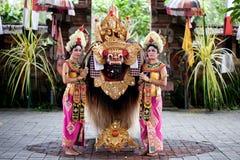 Barong舞蹈演员巴厘岛印度尼西亚 库存图片