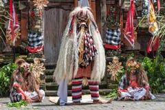 Barong舞蹈的巫婆,巴厘岛,印度尼西亚 免版税库存图片