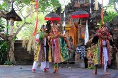 Barong舞蹈, Ubud,巴厘岛 免版税库存照片