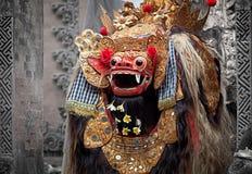 Barong -字符在巴厘岛里,印度尼西亚神话。 图库摄影