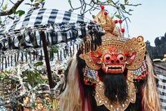 防护精神和巴厘岛标志- Barong 免版税库存照片