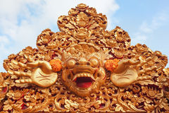 防护精神和巴厘岛标志- Barong 免版税库存图片