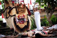 Barong - a character in the mythology of Bali Royalty Free Stock Photo