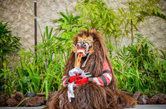 Barong Dance is an acting or performance art show of locality in Royalty Free Stock Photography