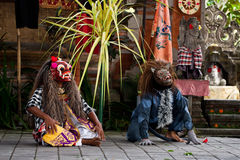 Barong dance actors Royalty Free Stock Photos