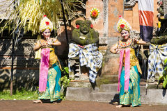 Barong Dance, Bali, Indonesia. Image of a scene from the very impressive Barong Dance performance, showcasing the rich cultural traditions of Indonesia that was Stock Photos