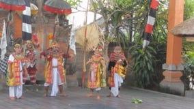 Barong dance in Bali stock footage