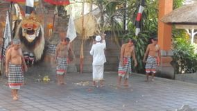Barong dance in Bali stock video footage