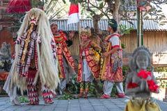Barong dance. Culture barong dance hindu theatre Royalty Free Stock Images